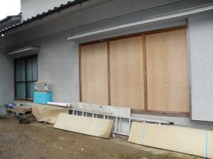 木製雨戸、窓取替え交換
