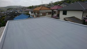 三郷町信貴ヶ丘の屋根防水工事